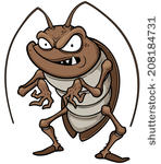 stock-vector-vector-illustration-of-cartoon-cockroach-208184731